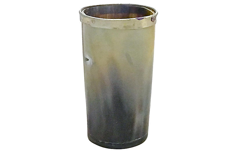 Silver Edge Horn Decorative Cup