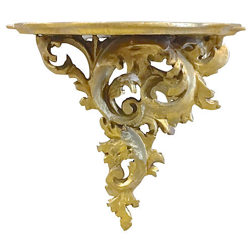 Italian Gilt Acanthus Wall Shelf