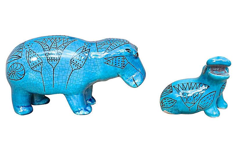 Metropolitan Museum Hippo Figurines, S/2