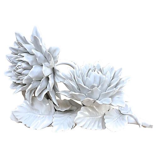 Porcelain Blanc de Chine Dahlia