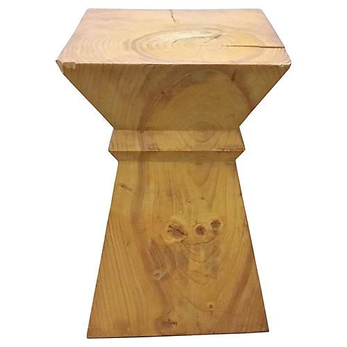 Rustic Modern Block End Table