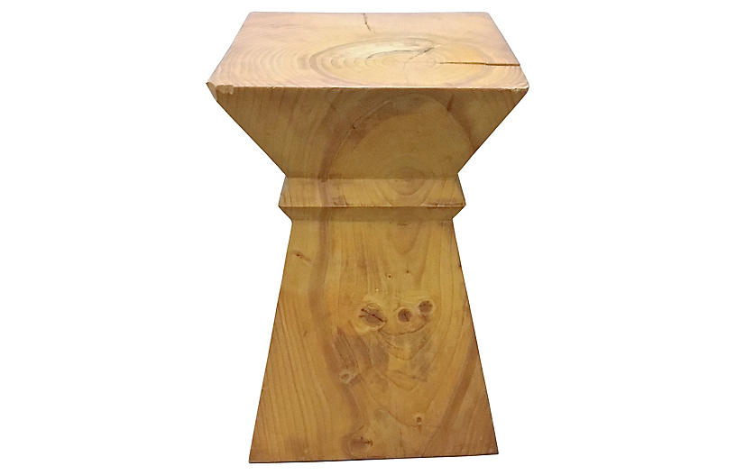 Rustic Modern Block End Table