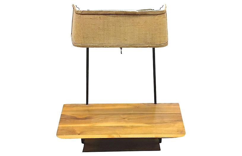 Mid-Century Modern Lamp Shelf