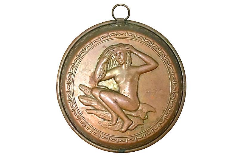 Art Deco Female Nude Copper Mold