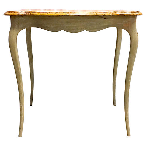 Faux Painted Side Table