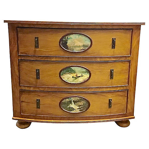Mountain Scene Drawer Chest Of Drawers