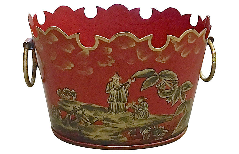 Chinoiserie Tole Cachepot