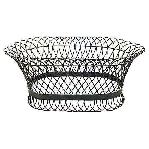 Bronze French Wire Oval Jardiniere