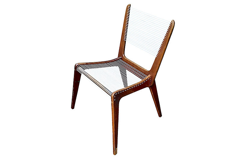 MCM Jacques Guillon Cord Chair