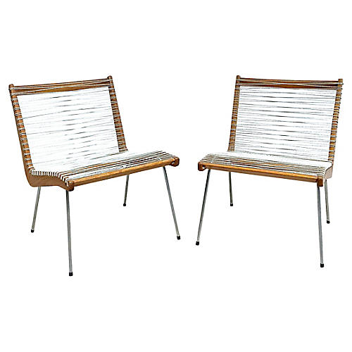 Cord Chairs By Robert Ellenburger, S/2