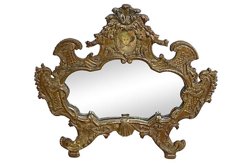 Antique Venetian Portrait Mirror