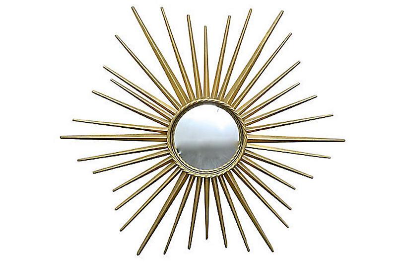 Brass Starburst Bull's Eye Mirror