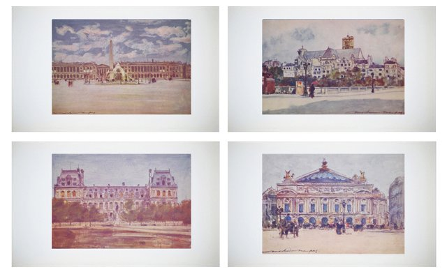 Lithographs of Paris by M. Menpes, S/4