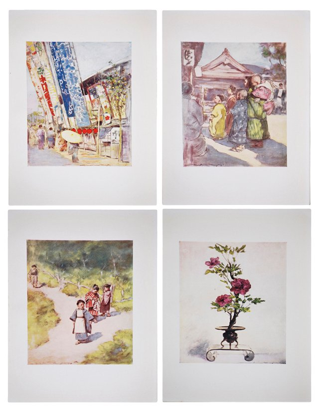 Lithographs of   Japan by Menpes, S/4