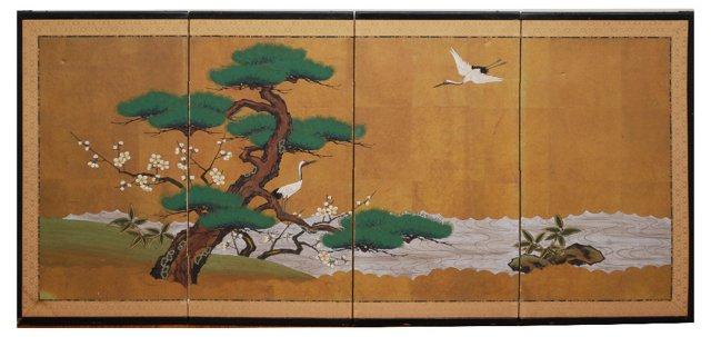 Japanese Wall Screen, C. 1950
