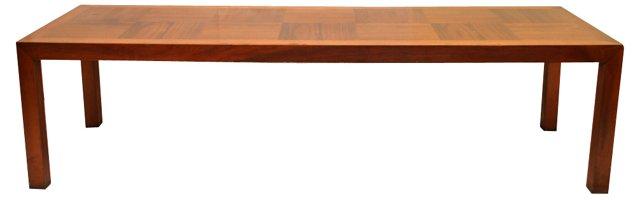 Midcentury Parquetry  Coffee Table
