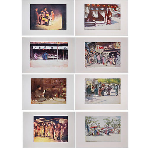 Antique Lithographs of Japan by Menpes