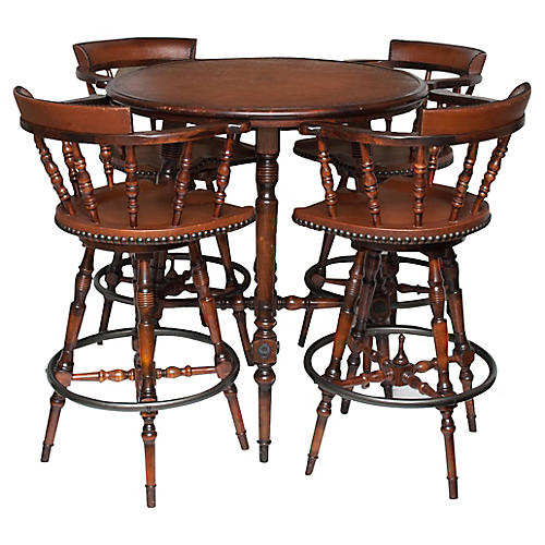 Midcentury Drinks Table & Chairs Set