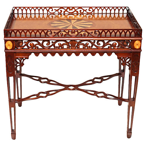 English Chippendale-Style Side Table