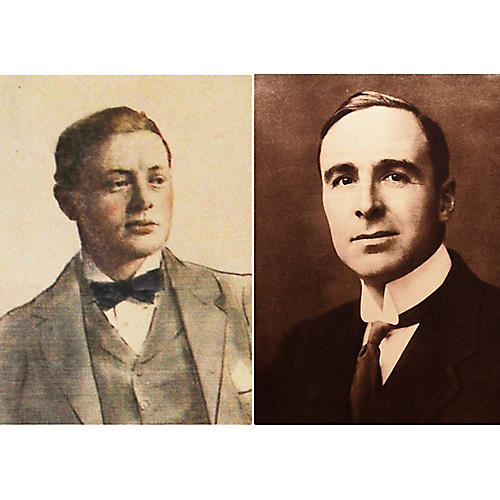 Portraits of Two Winston Churchills
