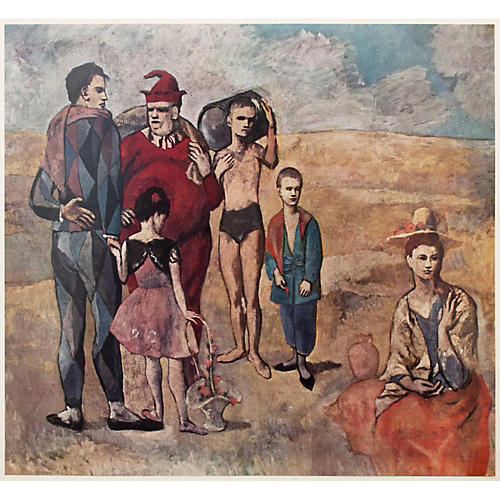 Picasso the Saltimbanques Original Print