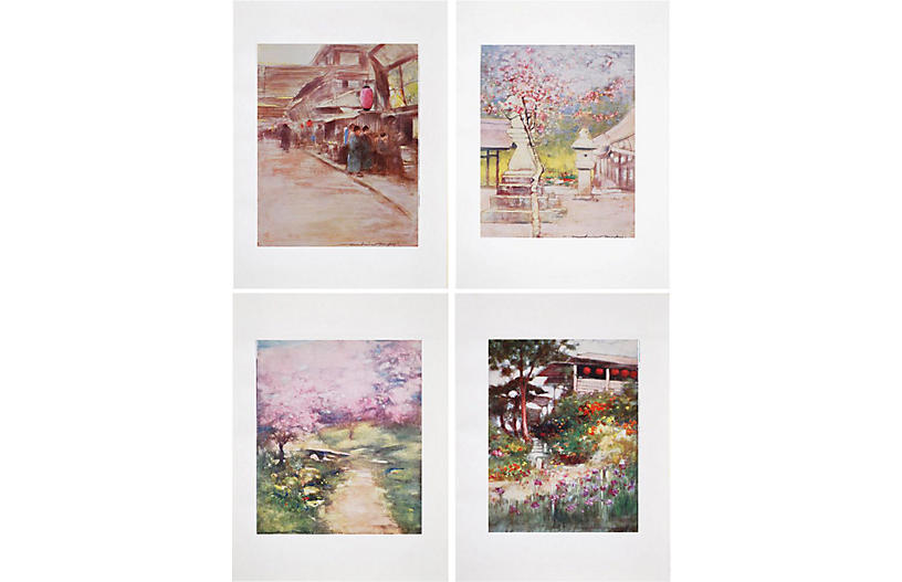 Lithographs of Japan by M. Menpes, 1901