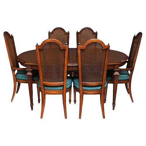 C. 1940-60s Hepplewhite Dining Set