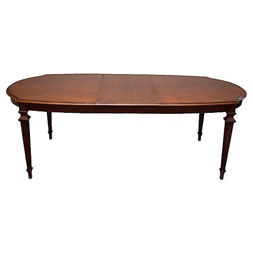 Midcentury Hepplewhite Dining Table