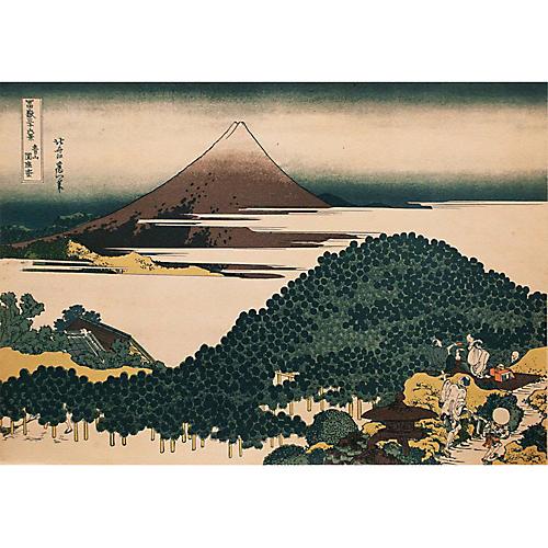 Hokusai's The Circular Pine Trees