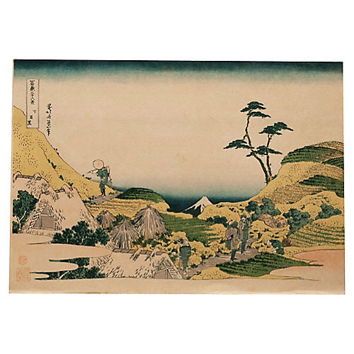 Shimomeguro by Hokusai