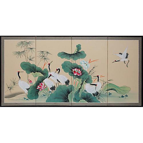 C. 1970s Japanese Byobu Screen