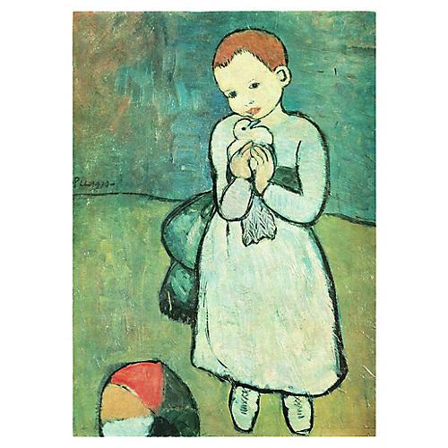 Picasso L'Enfant au Pigeon Print, 1971