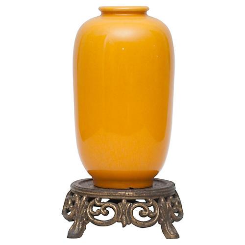 Japanese Awaji Vase, C.1920