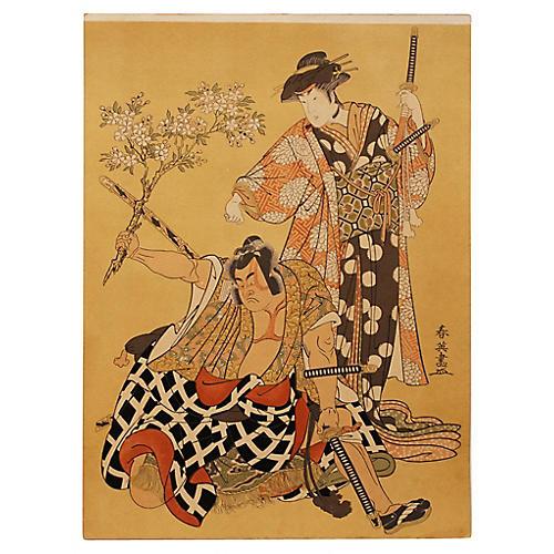 Kabuki Actors by Katsukawa Shun'ei
