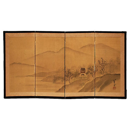 Japanese Table Screen, C.1940