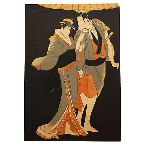 Kabuki Actors by Tōshūsai Sharaku
