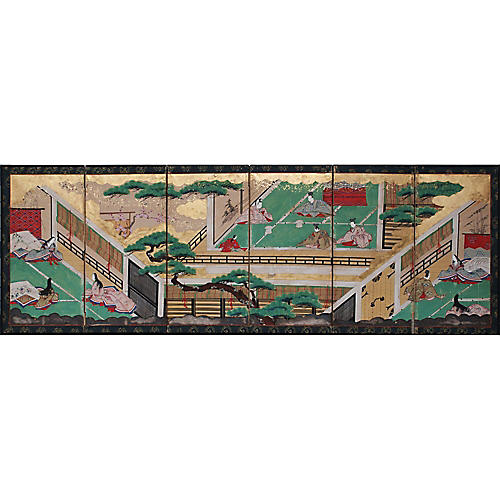 17th-18th C. Japanese Byobu Screen