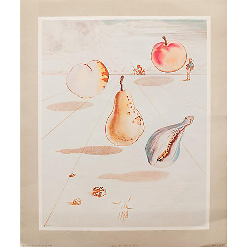 Salvador Dalí Fruit Lithograph