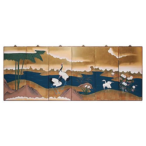 1940s Japanese Byobu Screen