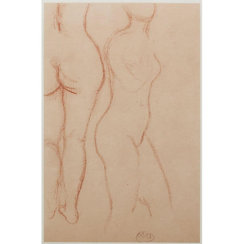 Lithograph Studies by Maillol, 1959