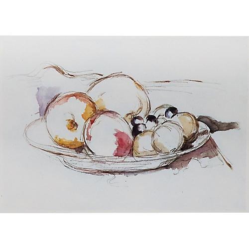 Cezanne Fruits,1959 Lithograph