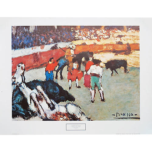 Corrida by Picasso, Large 1970s Print