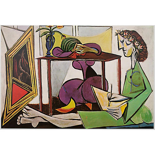 Picasso Interior With a Girl Drawing