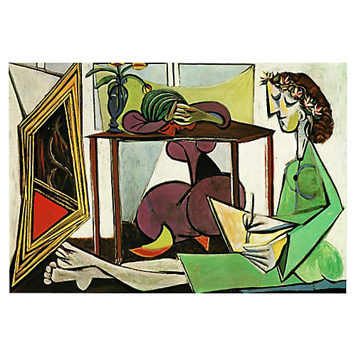 Picasso Interior w/ a Girl Drawing, 1971