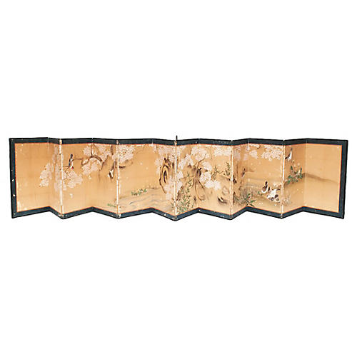 Japanese Edo-Era 12-Panel Screen