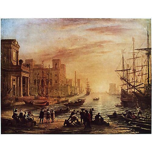 Claude Lorrain, Seaport at Sunset