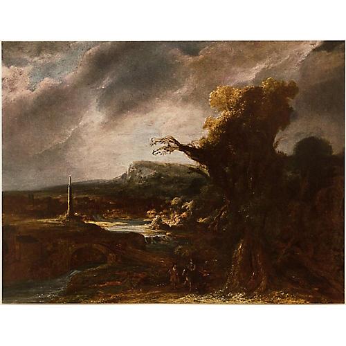 Landscape w/ an Obelisk