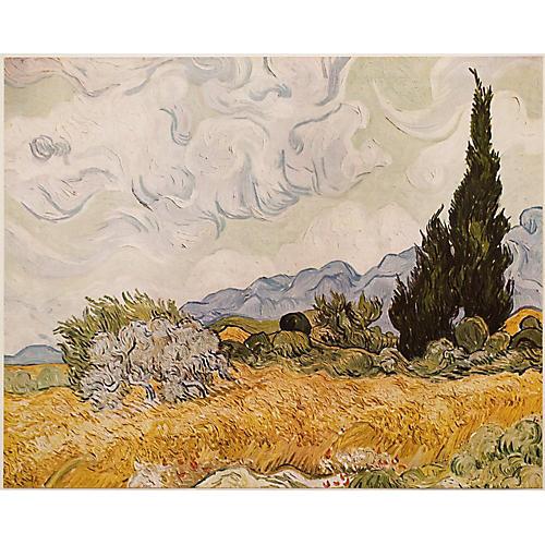 Van Gogh Wheat Field w/ Cypresses, 1950