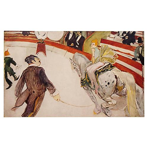 Toulouse-Lautrec Circus Lithograph, 1950