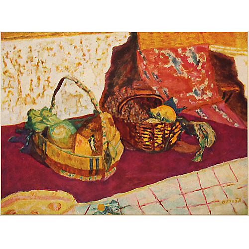 Pierre Bonnard Corbeille de Fruits, 1947